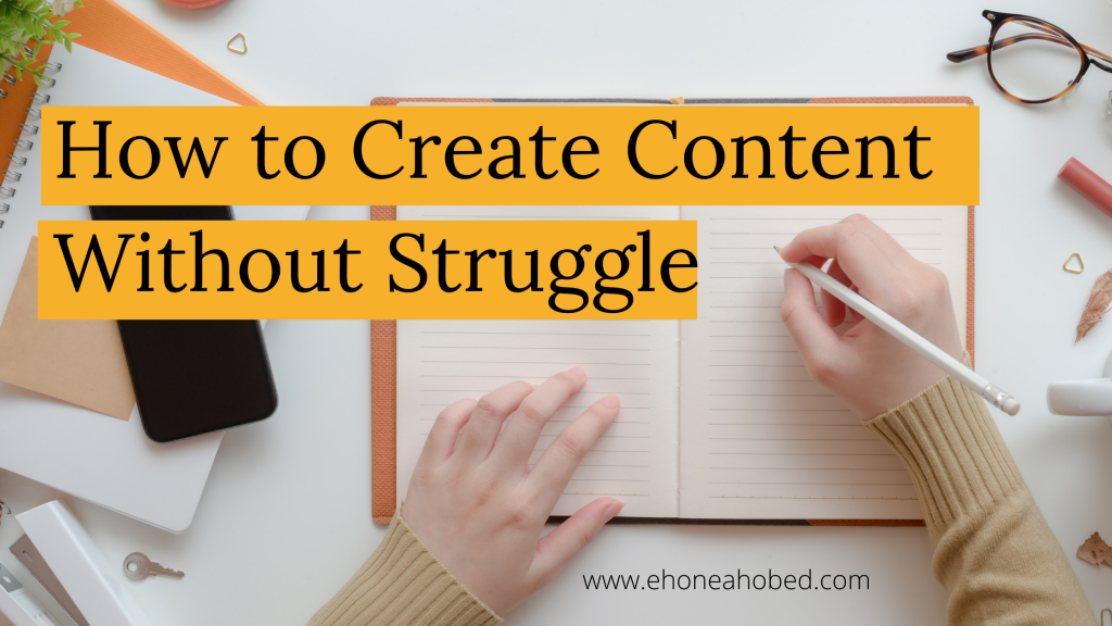 how to create content
