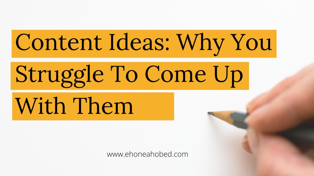 content ideas ehoneah obed